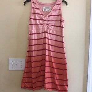 Aventura Organic Medium Dress striped pink red